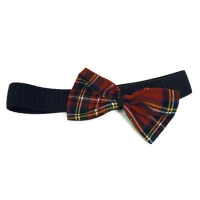 Red Tartan Head Bow Wrap