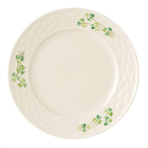 Shamrock Salad Plate Belleek Basketweave Shamrock Collection of China