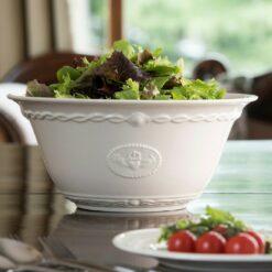 Belleek Claddagh Large Serving Bowl Modeled