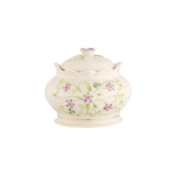 Irish Flax Gift Box with hand-painted pastel Flax flowers