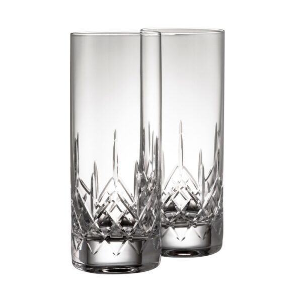 Galway Crystal Longford Collection Crystal Highball Glasses Pair