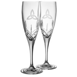 Trinity Knot Champagne Flutes Galway Crystal