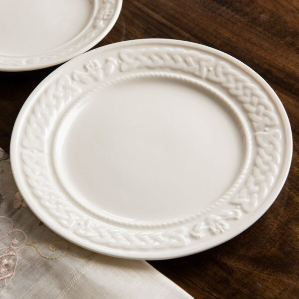 Belleek China Claddagh 9 inch Accent Plate Modeled