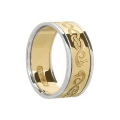 Gents Celtic Le Cheile Wedding Ring with Swans