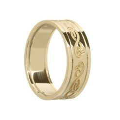 Ladies Celtic Le Cheile Wedding Ring with Swans