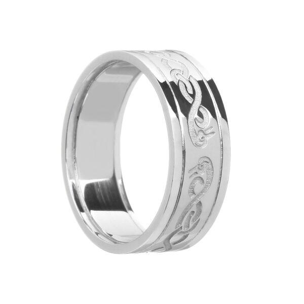 Ladies Celtic LeCheile Wedding Ring