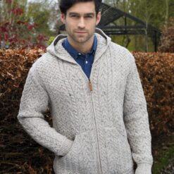 Gents Knit Hoody Oatmeal