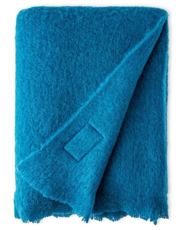 Blue Jade Mohair Throw