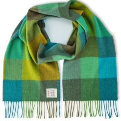 Green Fields Merino Woven Wool Scarf
