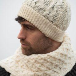 Natural Classic Honeycomb Merino Hat