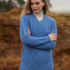 Wedgewood Blue V Neck Sweater